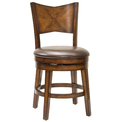 """26.5"""" Jenkins Swivel Counter Height Barstool Brown - Hillsdale Furniture"""