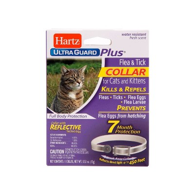 Hartz UltraGuard Plus Flea & Tick Collar with Reflect-X Shield for Cats and Kittens - 1ct