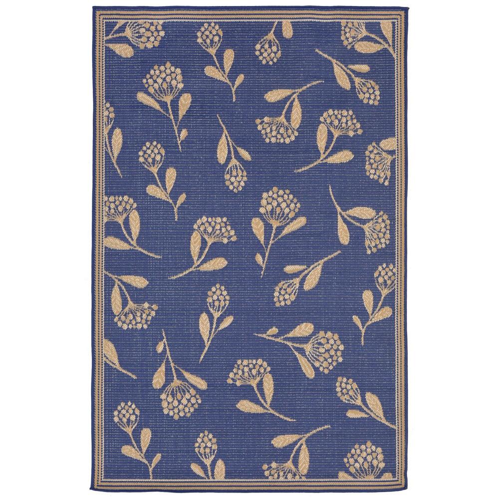 3'4X5' Floral Accent Rug Blue Topaz - Liora Manne