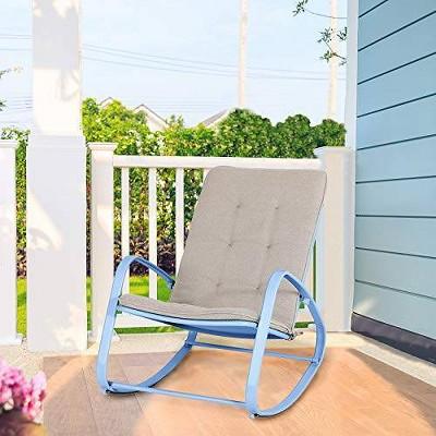 Outdoor Rocking Chair - Blue - Captiva Designs