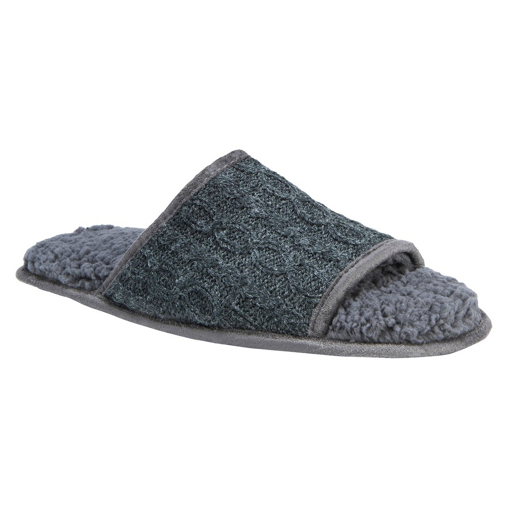 Men's Muk Luks Andy Slide Slippers - Dark Gray S, Dark Grey