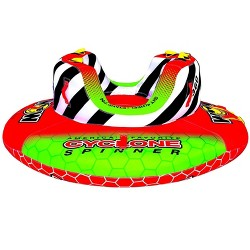 WOW Watersports 2-Person Cyclone Spinner Towable Rotating Boating Tube