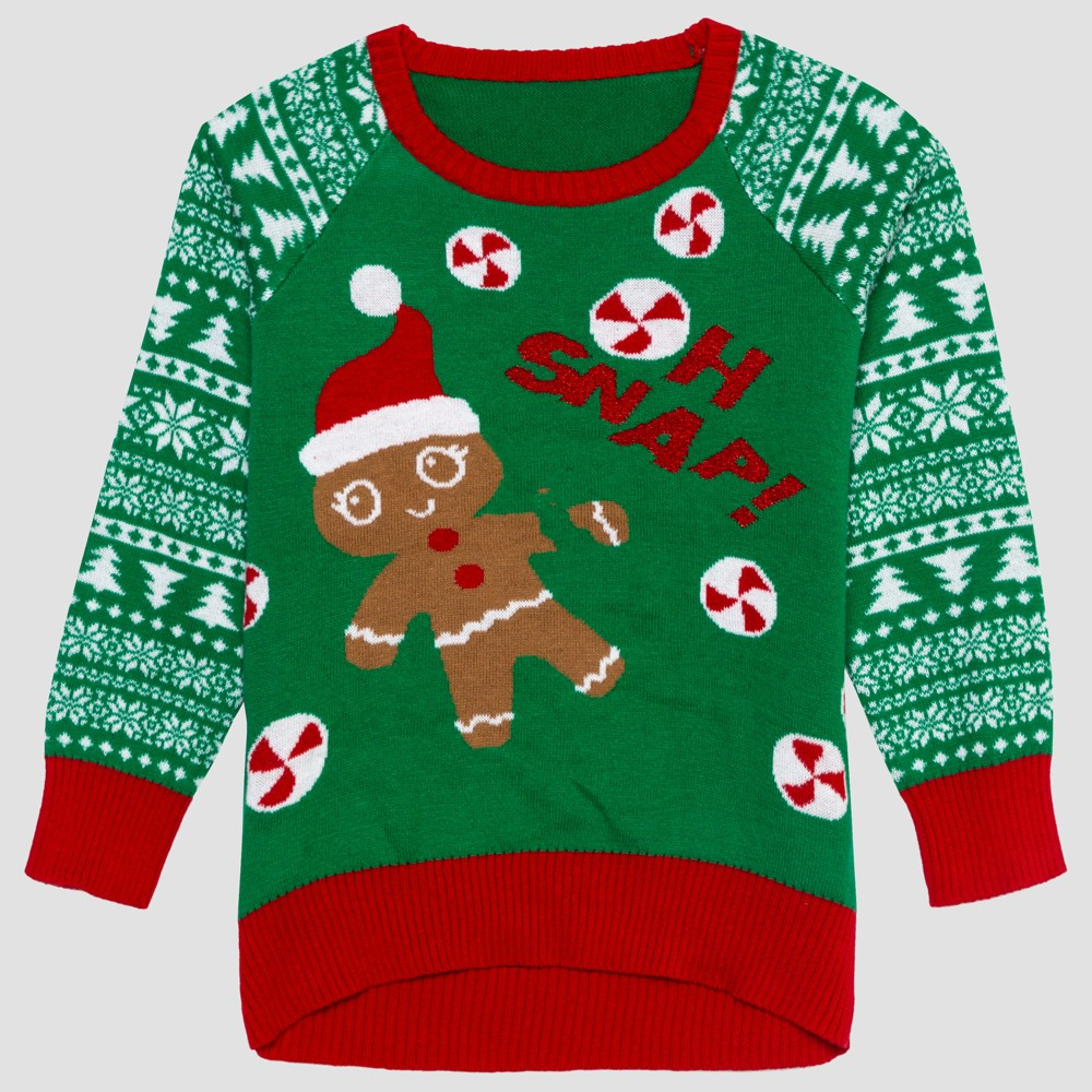 Toddler Girls' Ugly Holiday Sweater - Green 12M