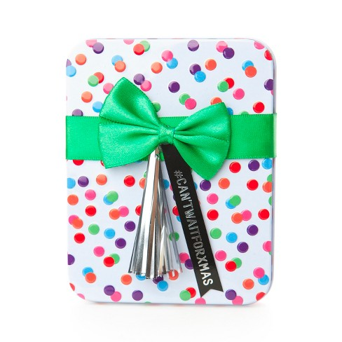 Dots With Tassel Tin Flocked Gift Card Holder - Wondershop™ - image 1 of 1
