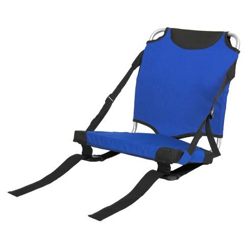 Groovy Travel Chair Stadium Seat Blue Customarchery Wood Chair Design Ideas Customarcherynet