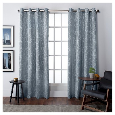 Set of 2 Finesse Faux Linen Room Darkening Window Curtain Panels - Exclusive Home
