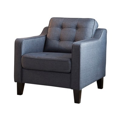 Natalie Tufted Fabric Armchair Navy   Abbyson Living : Target
