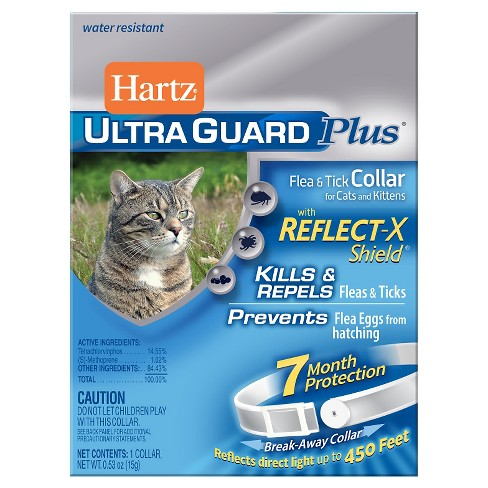 Hartz UltraGuard Plus Flea & Tick Collar with Reflect-X Shield for Cats and Kittens - 1ct - image 1 of 1