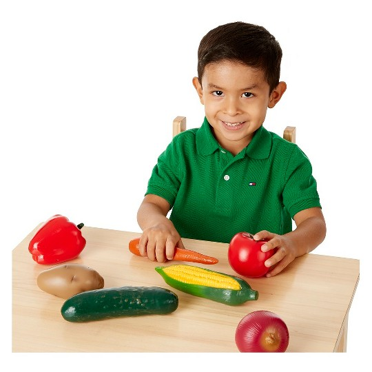 Melissa & Doug Playtime Produce Vegetables Play Food Set With Crate (7pc) image number null