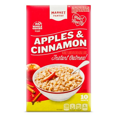 Apples & Cinnamon Instant Oatmeal - 10ct - Market Pantry™ - image 1 of 1