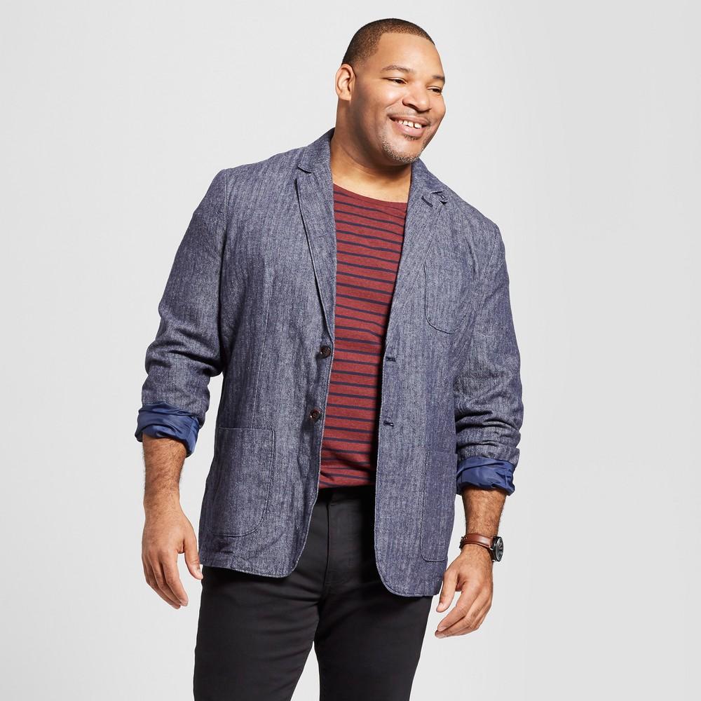 Men's Big & Tall Standard Fit Linen Blazer - Goodfellow & Co Tan 3XBT