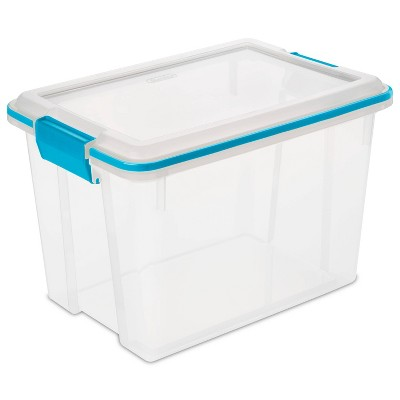 Sterilite 20qt Gasket Box with Latches Clear/Blue
