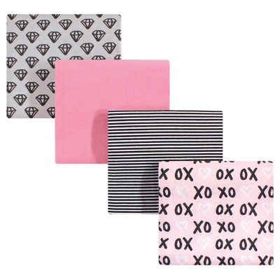 Hudson Baby Unisex Baby Cotton Flannel Receiving Blanket - Xoxo One Size