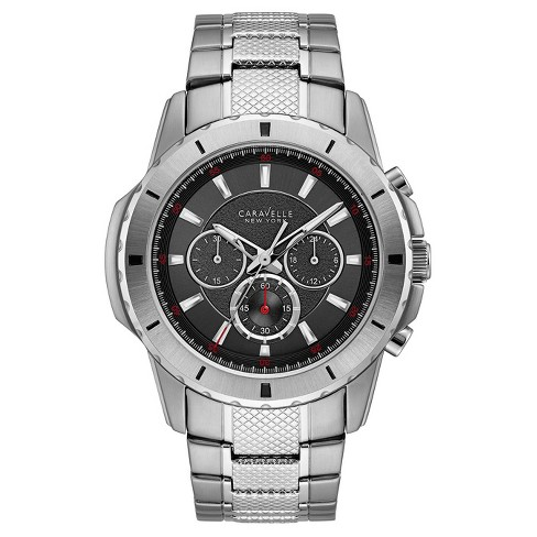 Men's Caravelle New York Chronograph Watch - Silver - image 1 of 3