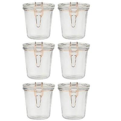 Amici Home Latham Glass Jar, 18oz, Medium, Set of 6