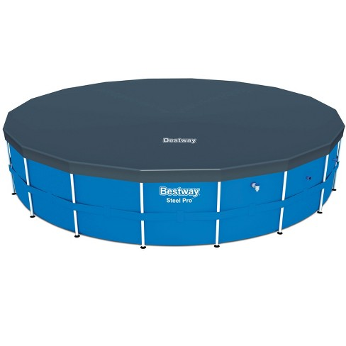 Bestway 18' Round PVC Above Ground Pool Debris Cover for Steel Pro Frame Pools - image 1 of 4