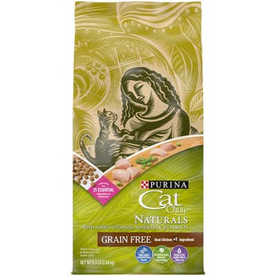 Purina Cat Chow Naturals Grain Free with Chicken Adult Complete & Balanced Dry Cat Food - 6.3lbs