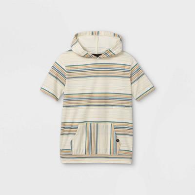 Boys' Short Sleeve Hoodie Sweatshirt - art class™ Cream