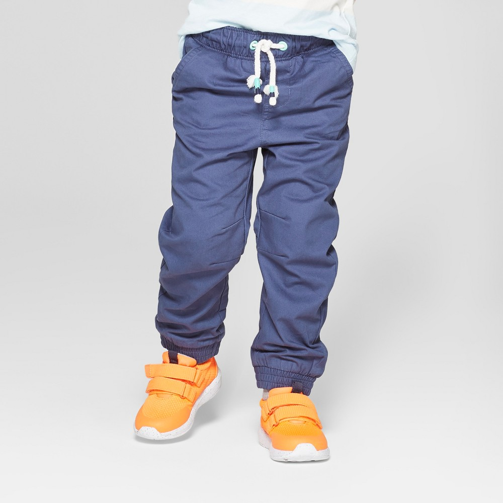Toddler Boys' Jogger Fit Lined Pull-On Pants - Cat & Jack Navy 12M, Blue