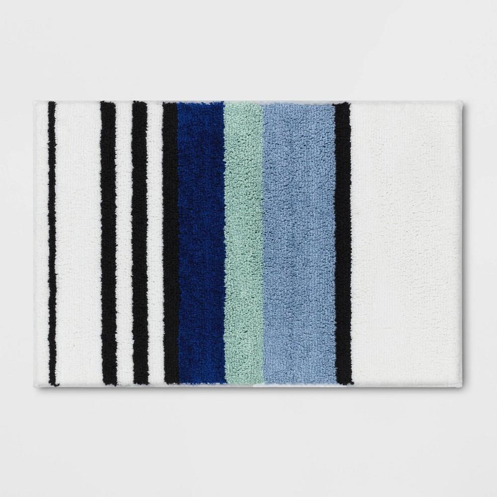 20 34 X30 34 Century Striped Tufted Bath Rug Blue Room Essentials 8482