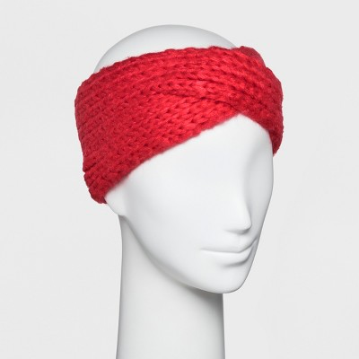 Women s Knit Crossover Headband - A New Day™   Target 3b387dc8bed
