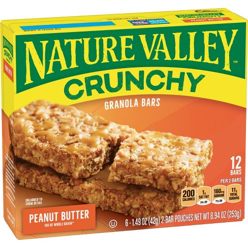 Nature Valley Crunchy Peanut Butter Granola Bars - 6ct - image 1 of 3