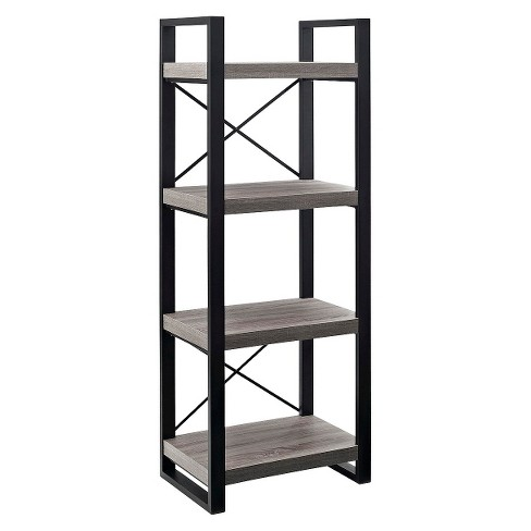 "62"" Multilevel Audio Media Storage Tower - Driftwood - Saracina Home - image 1 of 4"