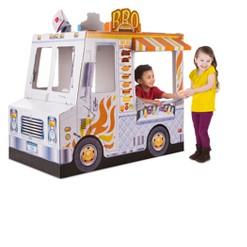 Melissa & Doug Food Truck Indoor Corrugate Playhouse (Over 4' Long)