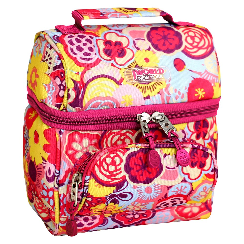 Image of J World Corey Lunch Bag with Front Pocket - Poppy Pansy