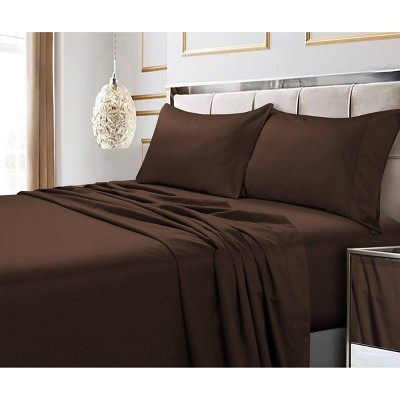 600 Thread Count Cotton 4pc Deep-Pocket Sheet Set - Tribeca Living