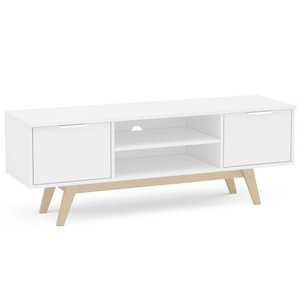 "Image of ""55"""" Manhattan TV Stand White/Oak - Chique, White/Brown"""