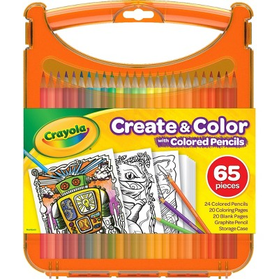 Crayola 65pc Create & Color Kit with Colored Pencils