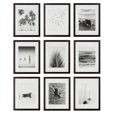 "(Set of 9)11"" x 14"" Gallery Grid Kit Black - Instapoints"