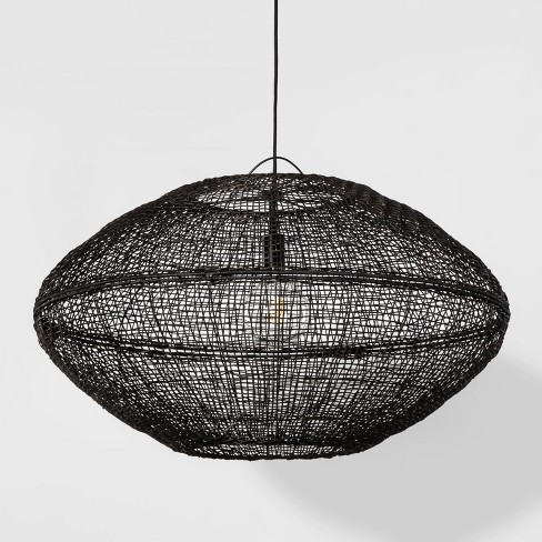 sale retailer a796d c09a3 Natural Woven Oblong Pendant Lamp (Includes Energy Efficient Light Bulb) +  Leanne Ford - Project 62™