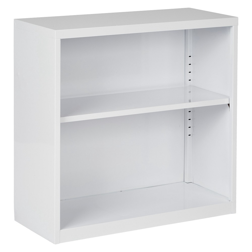 """Image of """"28"""""""" Metal Bookcase White - OSP Home Furnishings"""""""