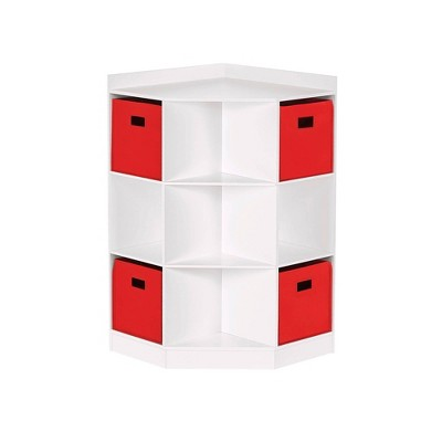 5pc Kids' Corner Cabinet Set with 4 Bins Set - RiverRidge Home