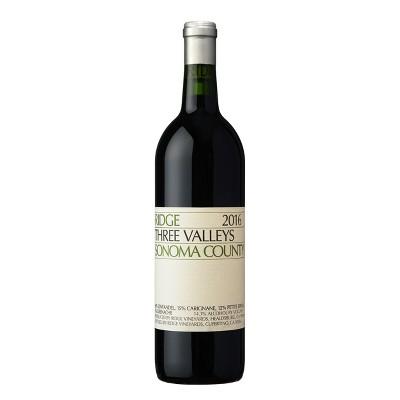 Ridge Three Valleys Zinfandel Red Wine - 750ml Bottle