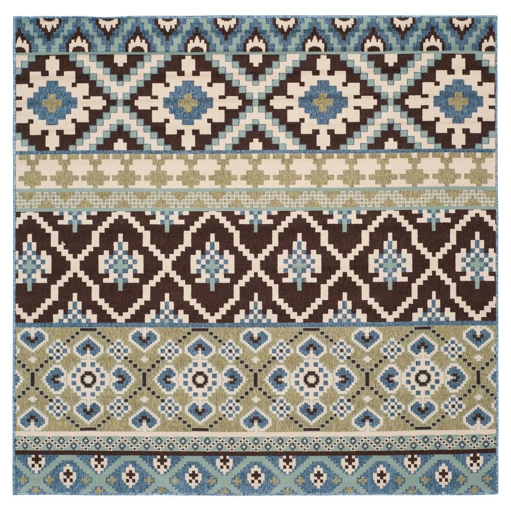 Salamanca Area Rug - Chocolate/Blue (Brown/Blue) (6'7