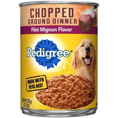 Pedigree Chopped Ground Dinner Wet Dog Food Filet Mignon Flavor - 13.2oz