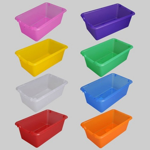 8ct Transparent Plastic Bins - Bullseye's Playground™ - image 1 of 4
