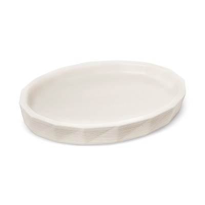 Faceted Ceramic Solid Soap Dish White - Project 62™