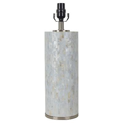 Capiz Subway Tile Large Lamp Base Shell Includes Energy Efficient Light Bulb - Threshold™