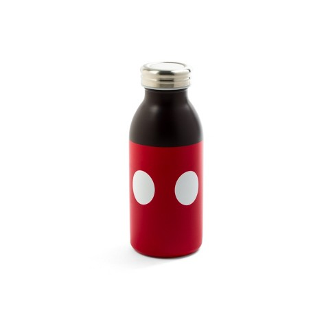 Mickey Mouse & Friends Mickey Mouse Plastic/Stainless Steel Water Bottle 11.5oz - Red/Black - image 1 of 1