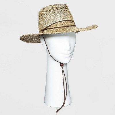 Women's Curled Brim Woven Seagrass Hat - Universal Thread™ - Natural