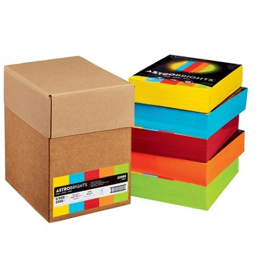 Astrobrights Color Printer Paper, 8-1/2 x 11 Inches, set of 5 Reams in Assorted Colors