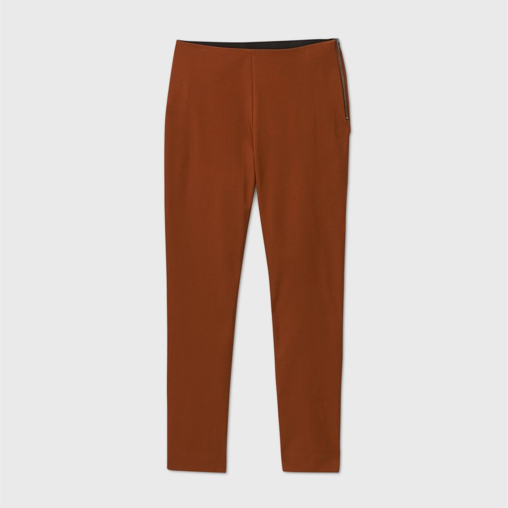 Women 39 S High Rise Skinny Ankle Pants A New Day 8482 Rust 16