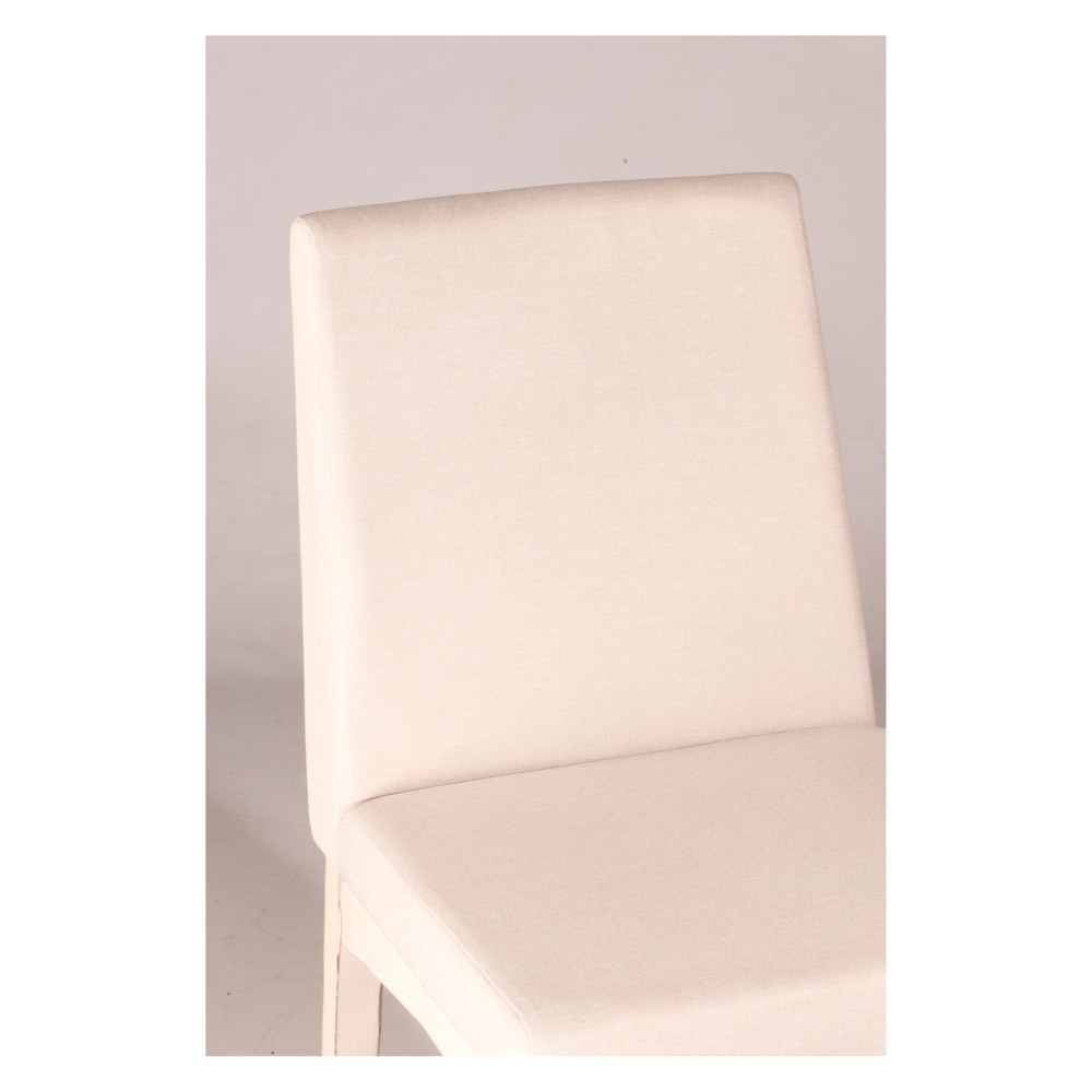 Clarion Upholstered Dining Chair Set of 2 Sea White - Hillsdale Furniture