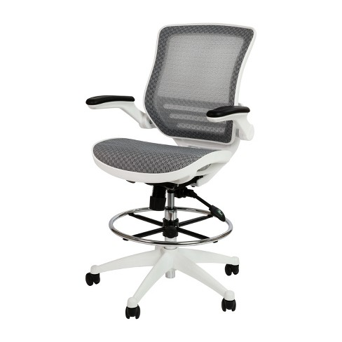 Transpa Gray Mesh Drafting Chair, Is Flash Furniture Good Quality
