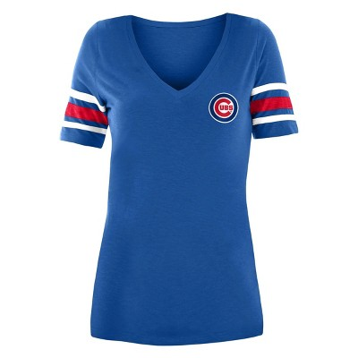 MLB Chicago Cubs Women's Pitch Count V-Neck T-Shirt