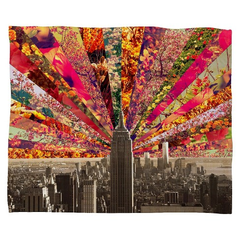 Blooming Ny Throw Blanket - Deny Designs® - image 1 of 1
